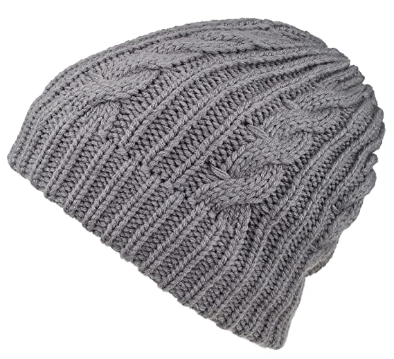 Spikerking Mens New Winter Hats Knitted Classic Twist Cap Thick Beanie Hat  4cb1e722f4b6
