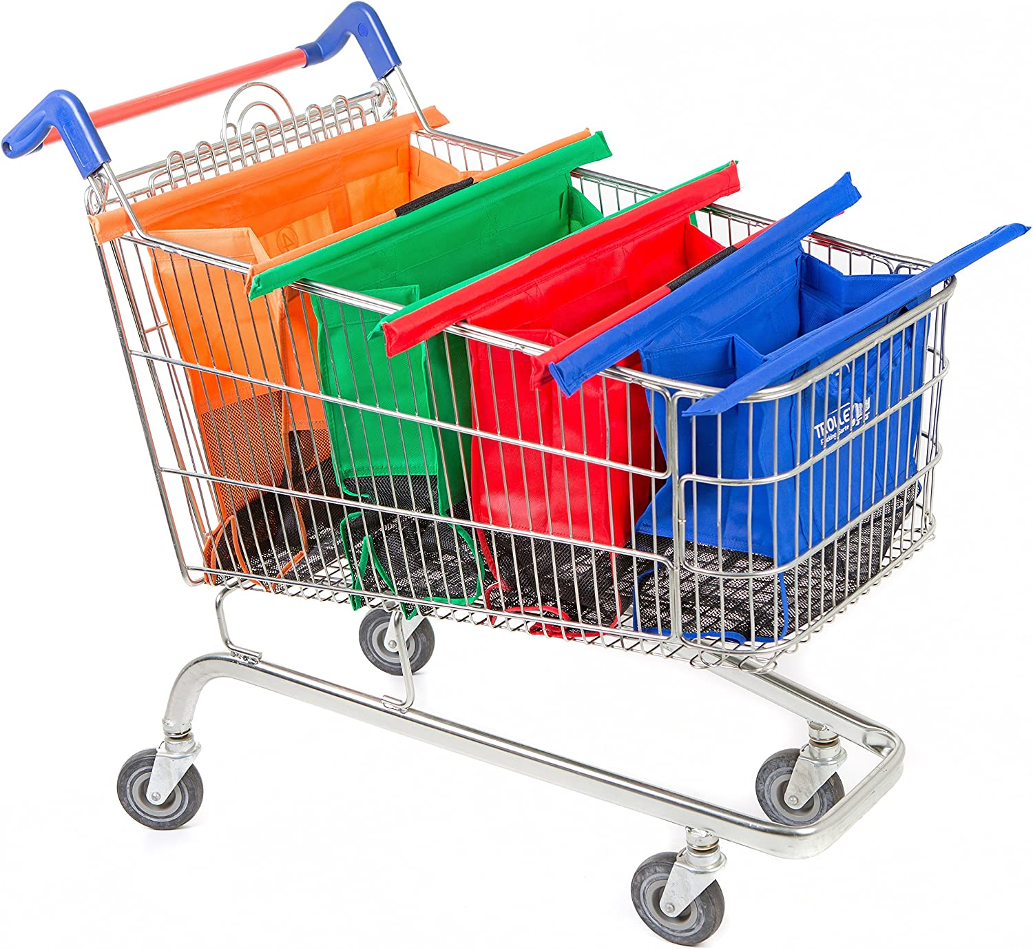 Trolley Bags Original Vibe Reusable Shopping Bags - Set of 4 Bags for  Normal Supermarket Trolleys: Amazon.co.uk: Kitchen & Home