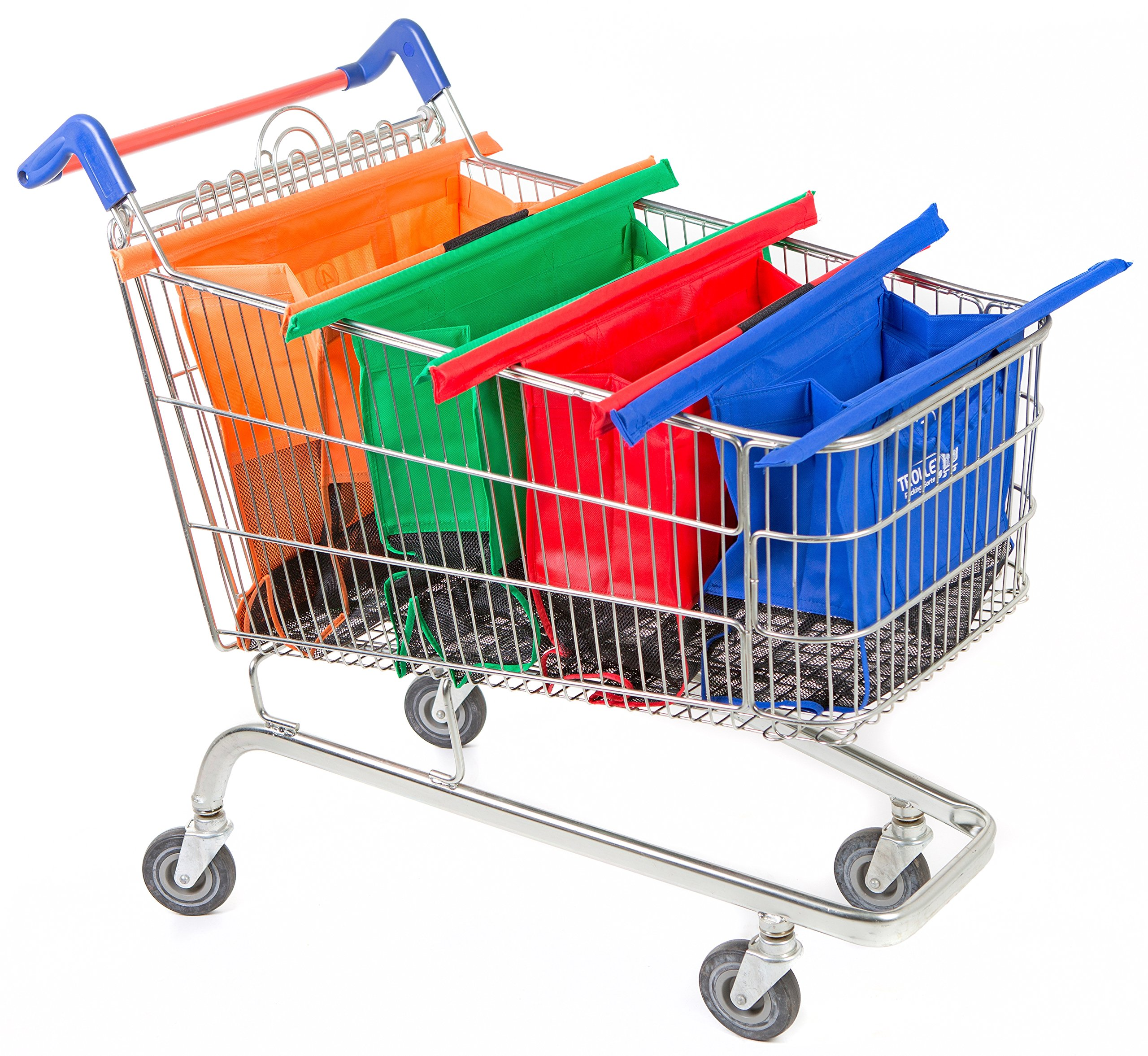 Trolley Bags Reusable Grocery Cart Wide Original Shopping Bags by Trolley Bags