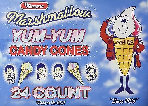 Yum Yum Marshmallow conos – 24 ct. Caso (grasa gratis ...