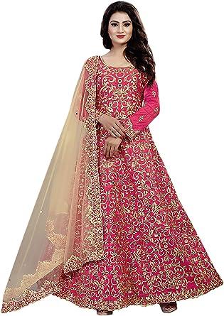 7c81804fc3 Aryan Fashion Women's Dress Material (AFS-AGAEV11144_Free Size_Pink ...