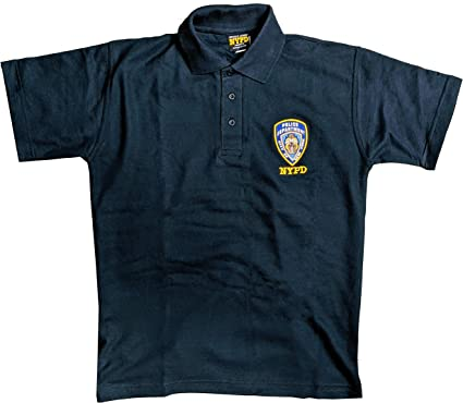 Nypd Official Embroidered Logo Polo Shirt Navy Amazon Co Uk Clothing