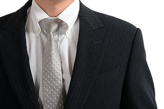 Amazon.com: Armani Collezioni traje de un botón de rayas ...