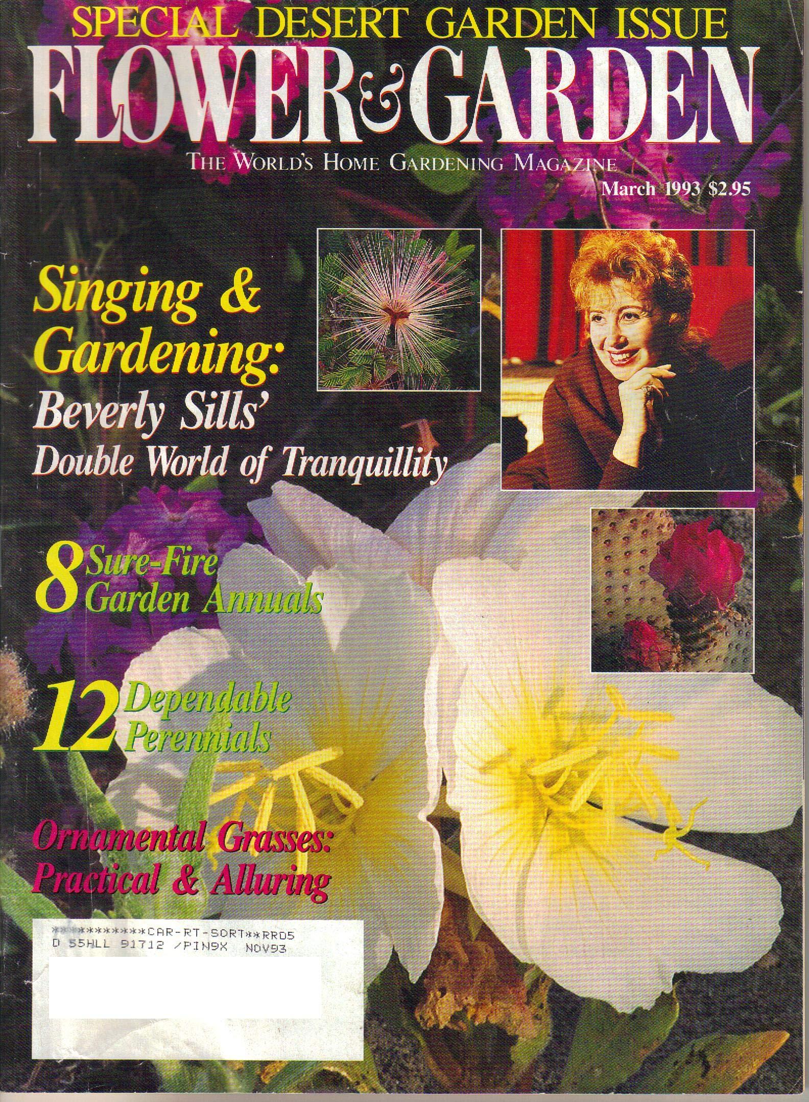 Flower Garden Magazine March 1993 Doug Hall Editor Amazon Com