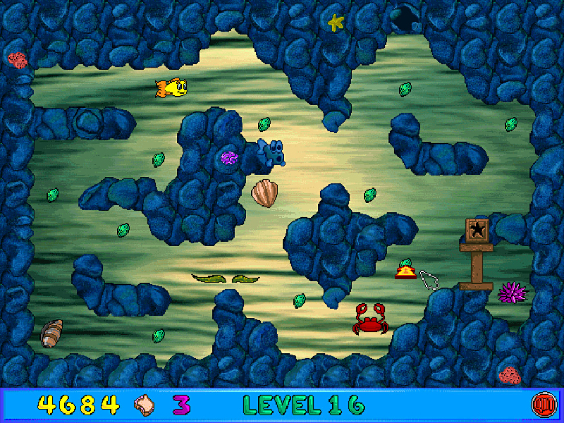 Freddi fish and luther 39 s maze madness online game code for Freddi fish online
