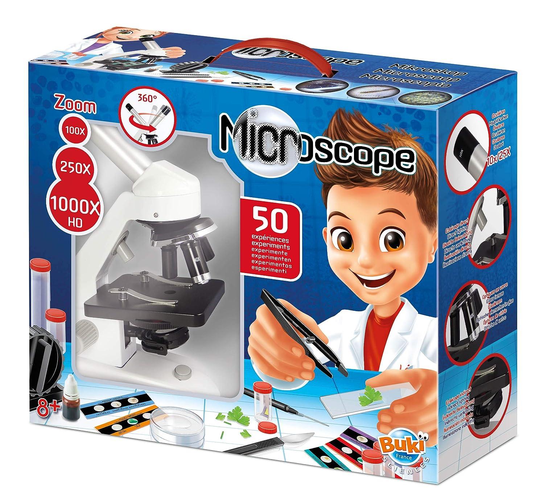 Microscopio para niños con 50 experimentos