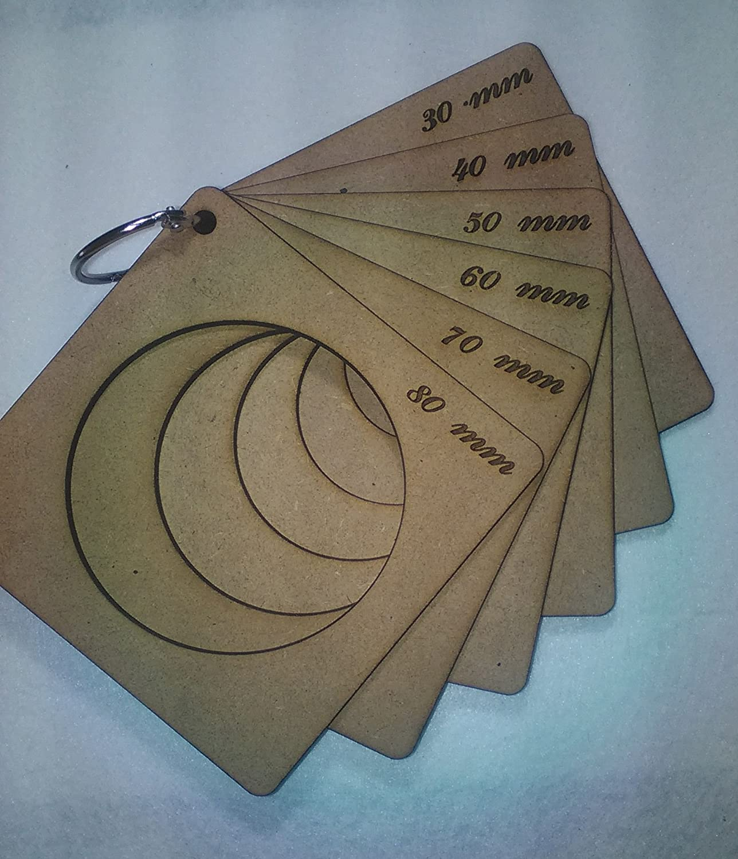 Lote de 6 plantillas para termoformar cabezas de fofuchas con anilla 80-70-60-50-40-30mm: Amazon.es: Hogar