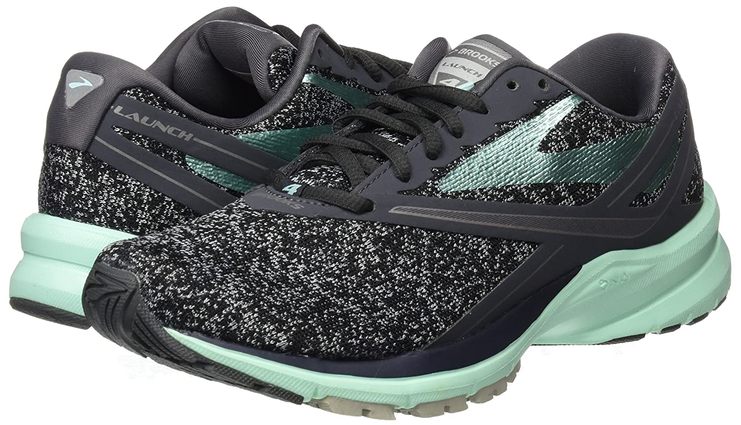 Brooks B01N8Q2ZPM Womens Launch 4 B01N8Q2ZPM Brooks 10.5 B(M) US|Anthracite/Beach Glass/Silver 1ff4f8