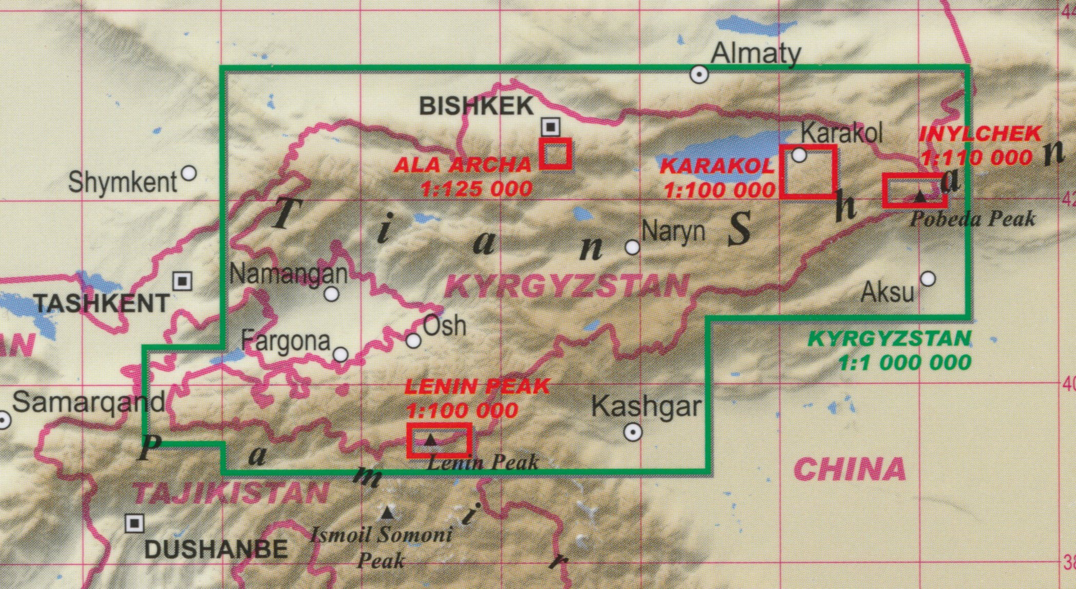 carte gps kirghizstan