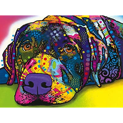 MasterPieces Dean Russo My Dog Blue Colorful Dog Large EZ Grip Jigsaw Puzzle, 300-Piece: Toys & Games