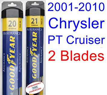 2001-2010 Chrysler PT Cruiser Replacement Wiper Blade Set/Kit (Set of 2