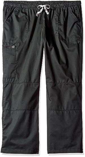 adc9261144ae8 WonderWink Women s Petite-Plus-Size Wonderwork Straight Leg Cargo Scrub  Pant