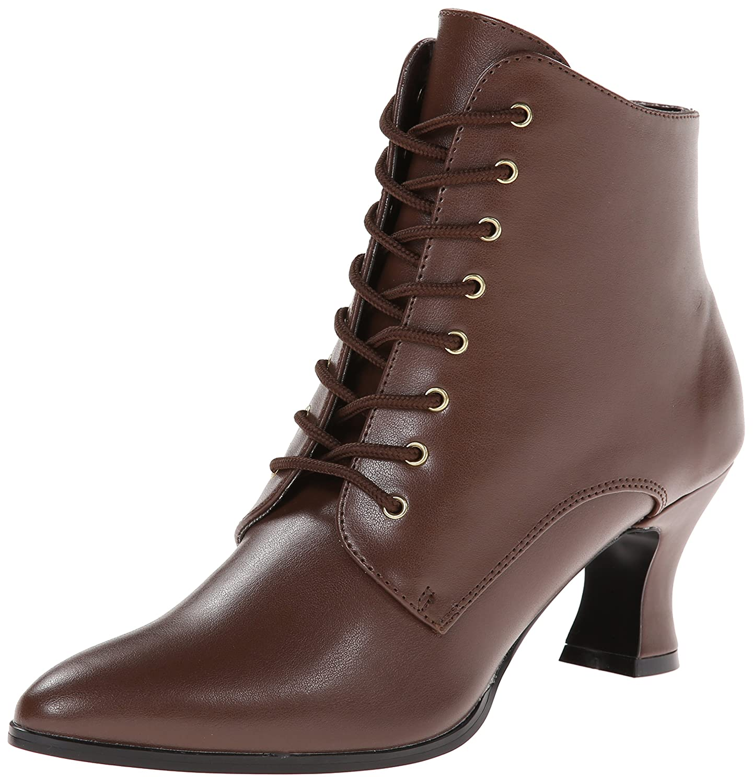 Brown Polyurethane Funtasma Women's Victorian-35 Boot