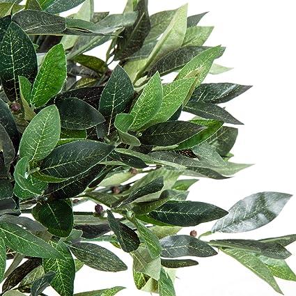 Outsunny Olivo Artificial 90cm con Cañas Naturales Árbol Planta ...
