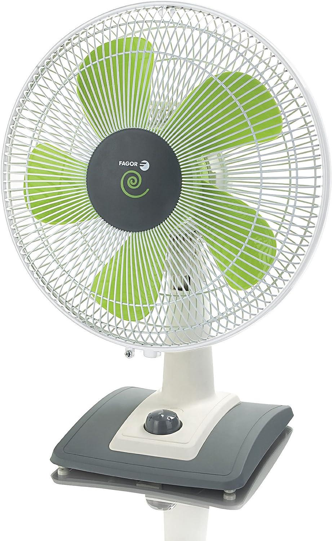 Fagor VTR-12 - Ventilador (Verde, Gris, Color Blanco, 45 W, 355 mm ...