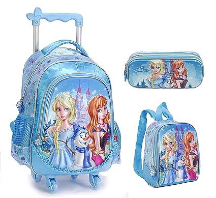 05811fac32e22 3D Frozen Princess Elsa and Anna Barbie Lovely Cute School Bag for 3-12 Ages