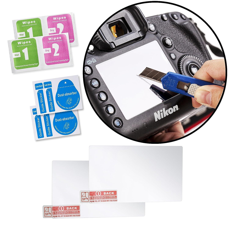 protezioni schermo LCD in vetro ottico per fotocamera Nikon D800 D800E Movo protegge da raggi UV graffi e polvere D800S D810 DSLR confezione da 2