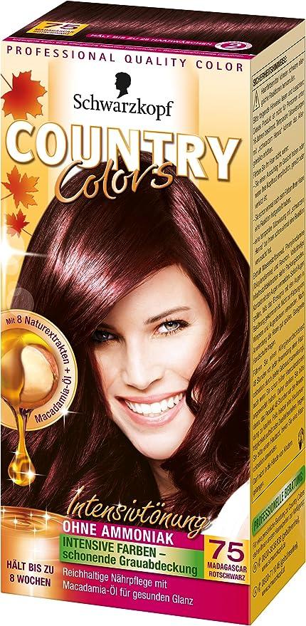 Colores país tinte Intensivo, 75 Madagascar Negro Rojo, 3 ...