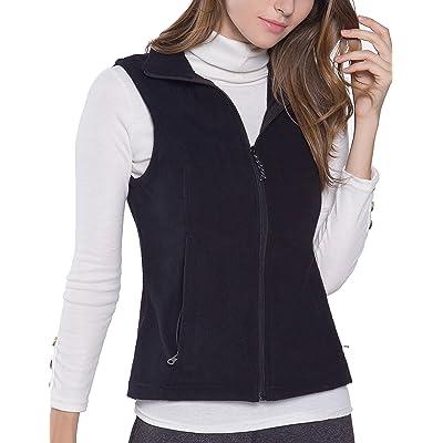 Oalka Women's Spring Fall Full Zip Fleece Vest at Women's Coats Shop