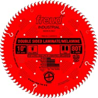 Freud 10 In. 80 Tooth Double Sided Laminate and Melamine Cutting Saw Blade with 5/8 In. Arbor (LU97R010)