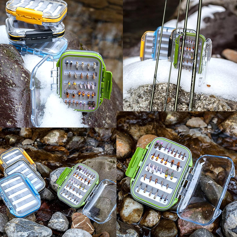 Maxcatch Two-Sided Waterproof Fly Box Slit Foam Fly Fishing Box