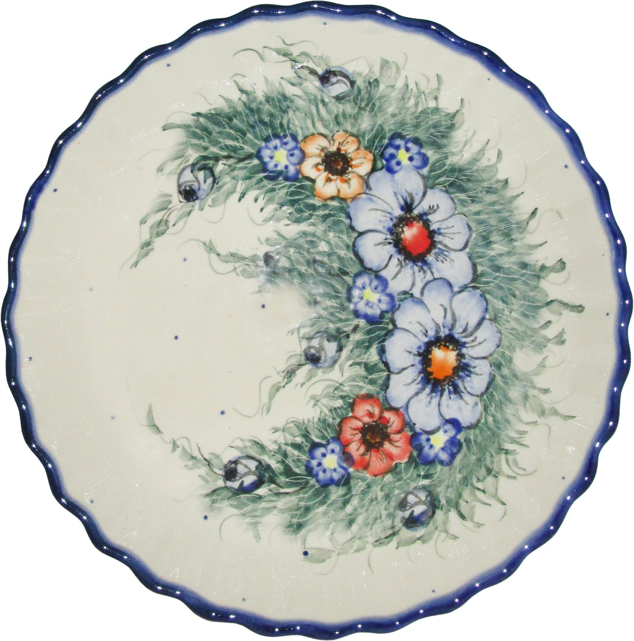 Polish Pottery Pie Plate or Quiche Baker Unikat Eva's Collection ''Wild Field''