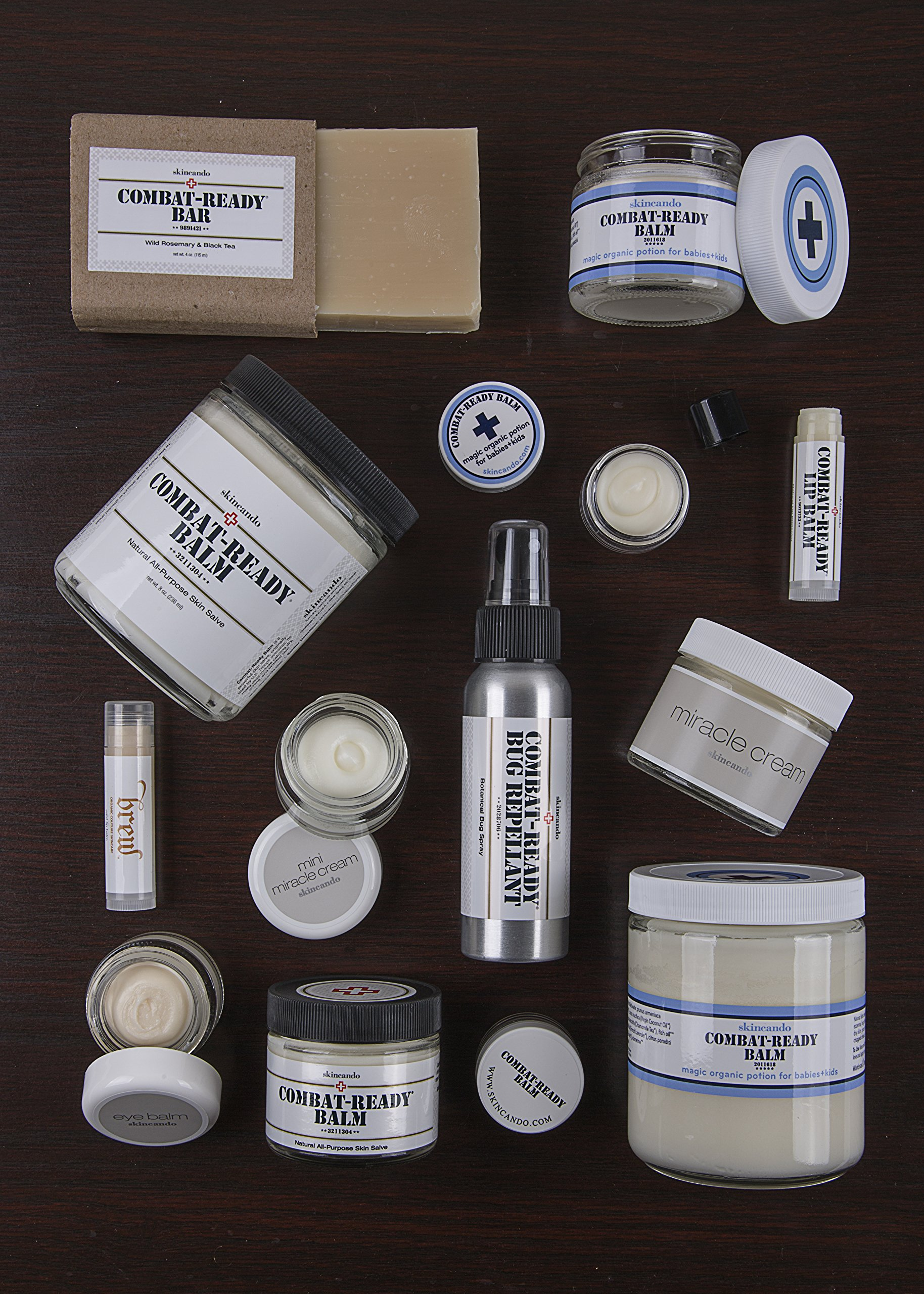 Combat Ready Skin Balm 8oz by Skincando - All Natural - Intensive Moisturizer - Skin Cream - Organic ingredients - Apricot Kernel Oil - Grapefruit Seed Extract - Black Spruce - Black tea Moisturizer