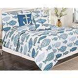 Tradewinds Blue Lagoon 5-pc. Comforter Set Bedding Full/Queen Blue