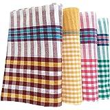 Fancyadda Handloom Cotton Bath Towels (Pack of 4, Extra Large Size, 34x68 inches / 2.83 feet x 5.66 feet)