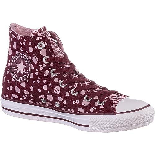 Converse 549648 - Zapatillas de Lona Para Mujer Rojo Granate: Amazon.es: Zapatos y complementos