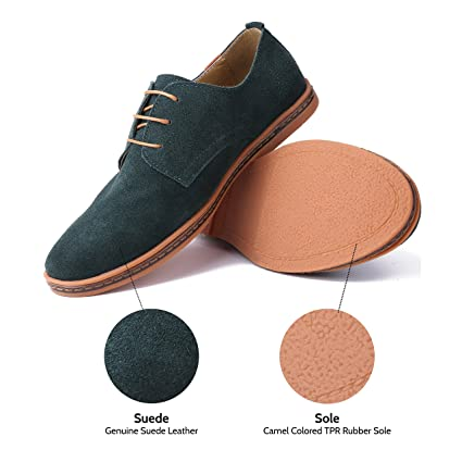 Amazon.com: Marino Suede Oxford Dress Shoes for Men - Business Casual Shoes  - Classic Tuxedo Men's Shoes: Clothing