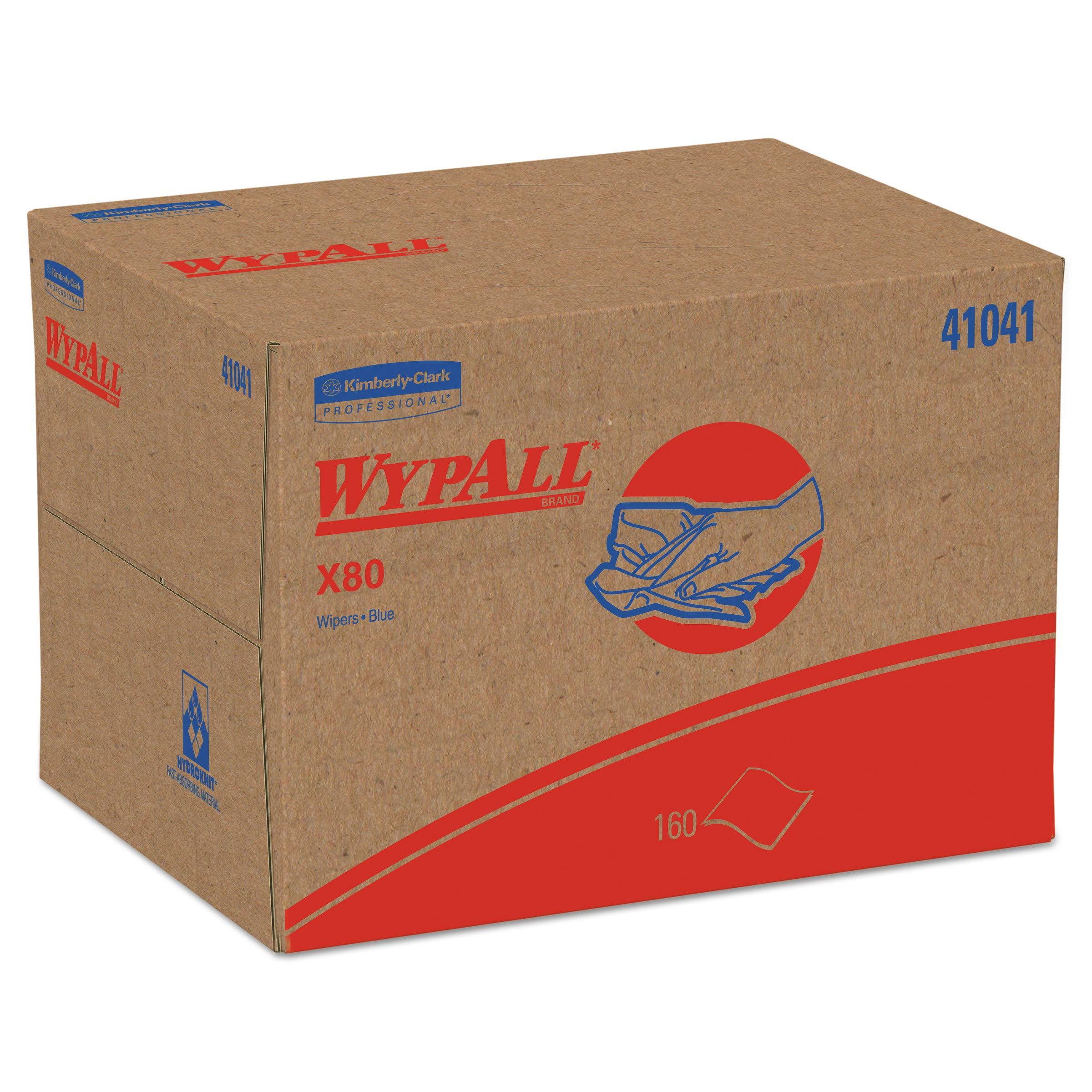 WypAll 41041 X80 Cloths, BRAG Box, HYDROKNIT, Blue, 12 1/2