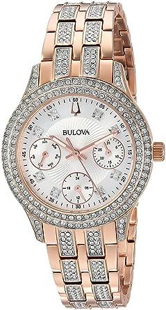 Bulova Women s  Swarovski Crystal  Quartz Stainless Steel Casual Watch 54ad0ad8b7