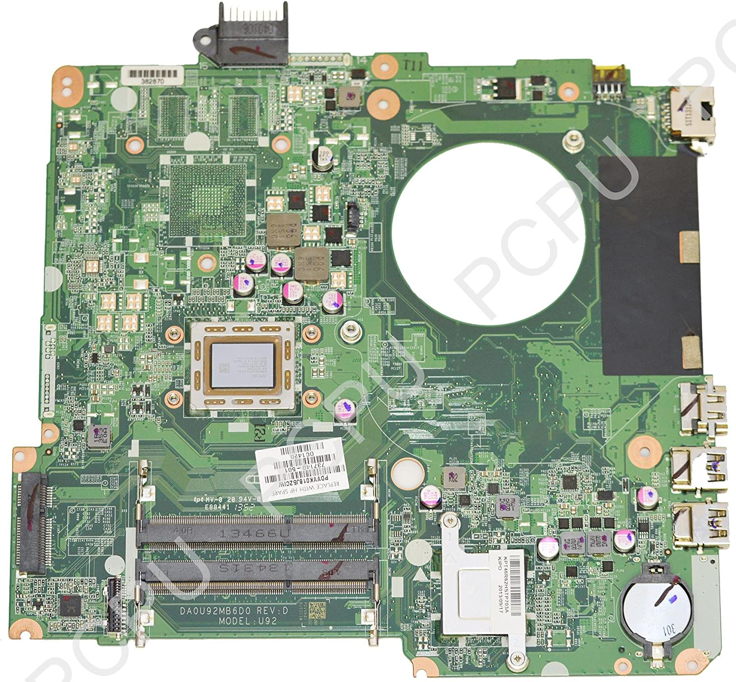 HP Pavilion 15 A8-4555M Laptop AMD Motherboard 737140-501 737140-001 DA0U92MB6D0