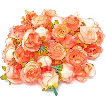Amazon Wedding Touches Pink Coral Rose Bud Decorative Synthetic