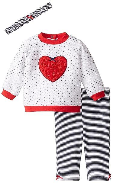 Amazon.com: Little Me Bebé Dos Piezas De Las Niñas Quilted ...