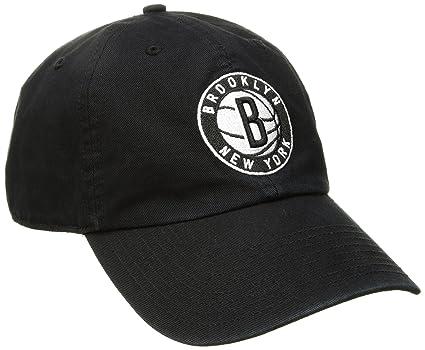 huge discount 07de5 57990 NBA Brooklyn Nets Adult NBA  47 Clean Up Adjustable Hat, One Size, Black