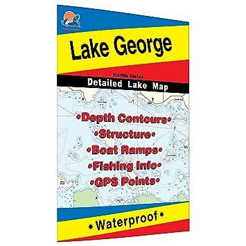 Amazon.com : Lake George Map (Florida) : Sports & Outdoors on honeoye lake depth map, detroit lake depth map, loon lake depth map, newton lake depth map, utah lake depth map, crooked lake depth map, coldwater lake depth map, intermediate lake depth map, schroon lake depth map, niagara river depth map, tappan lake depth map, belleville lake depth map, raquette lake depth map, utica depth map, lobdell lake depth map, manistee lake depth map, lakeville depth map, east grand lake depth map, clear lake indiana depth map, woodland lake depth map,