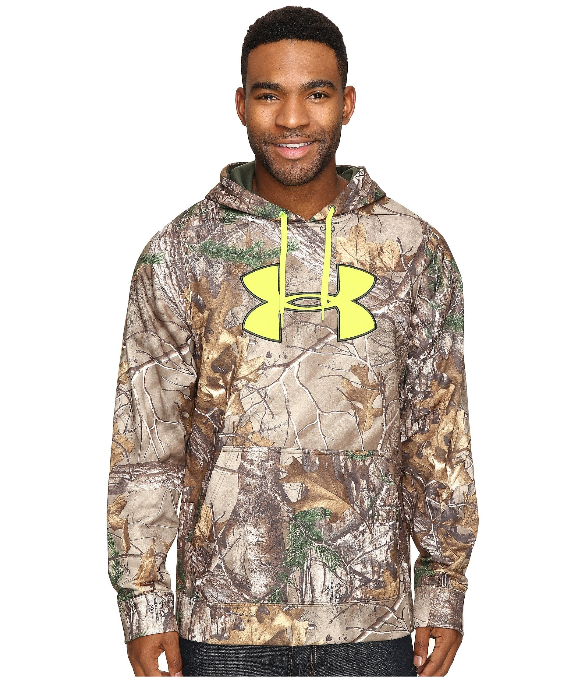 Under Armour Coldgear Scent Control Hoody - Men's Realtree AP - Xtra / Velocity Large by Under Armour