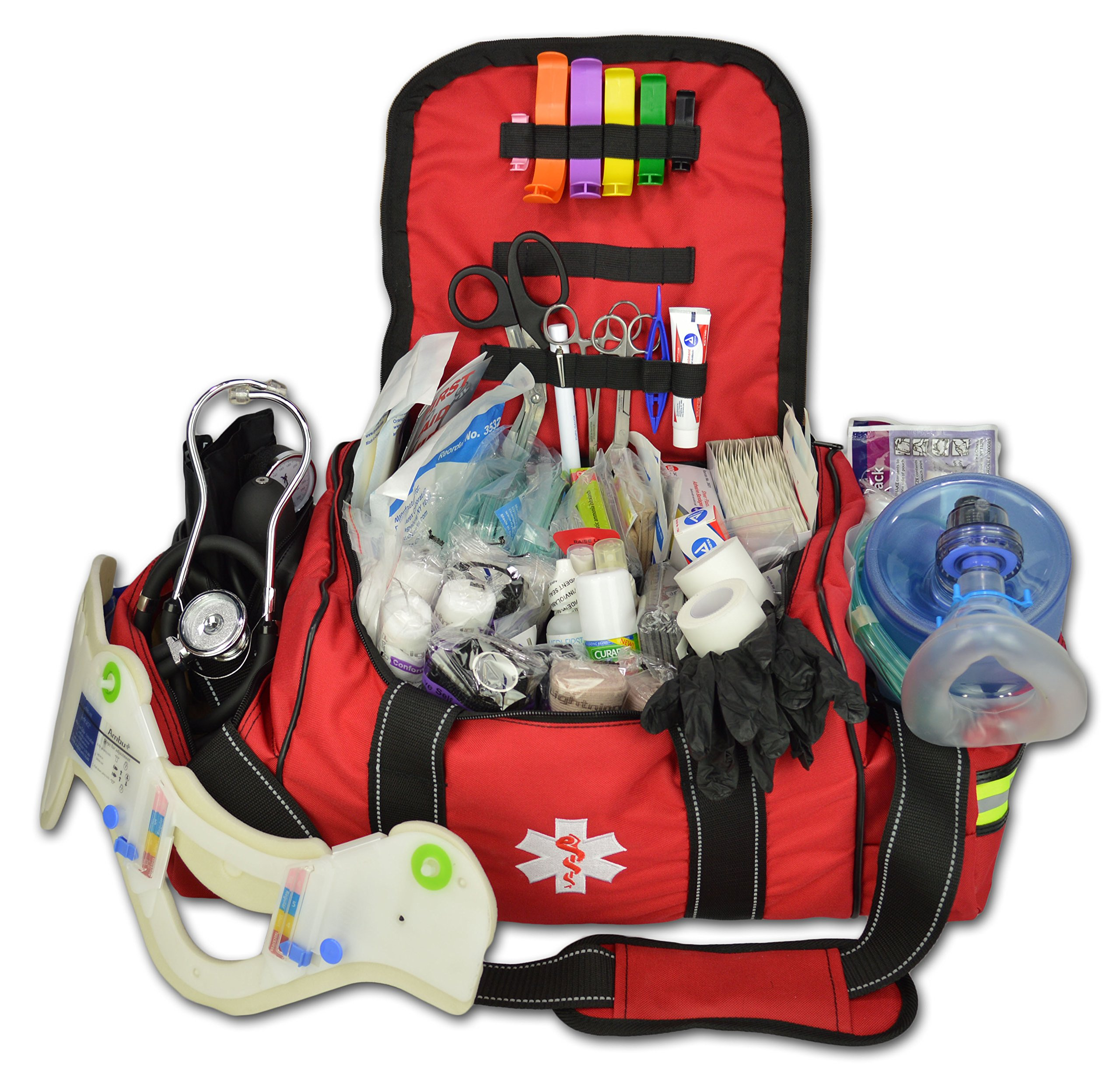 Deluxe Stocked Large EMT First Aid Trauma Bag Fill Kit w/Emergency Medical Supplies