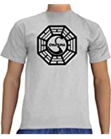Touchlines Herren Lost Dharma Logo B1081_Ash_L T-Shirt