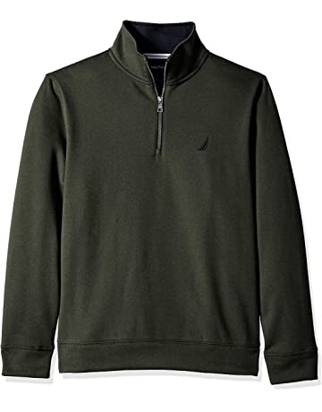 265258d7d56d Nautica Men s Solid 1 4 Zip Fleece Sweatshirt