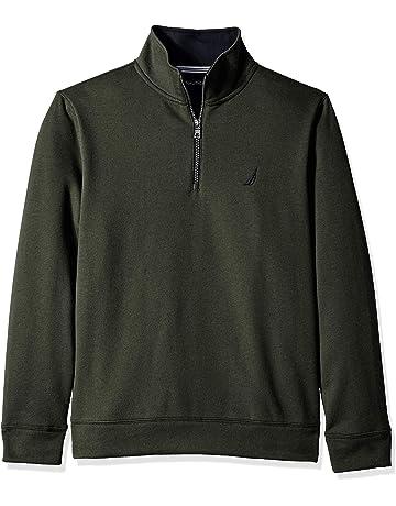 12cbaee9fe0240 Nautica Men s Solid 1 4 Zip Fleece Sweatshirt