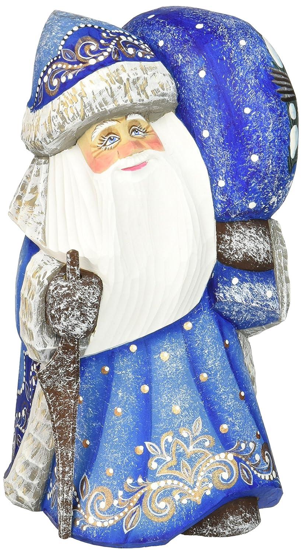 Debrekht Delightfully Fun Yuletide Santa Hand-Painted Wood Carving G