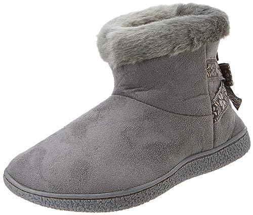 Isotoner Suedette Short Boot Slippers, Zapatillas de Estar por casa para Mujer: Amazon.es: Zapatos y complementos