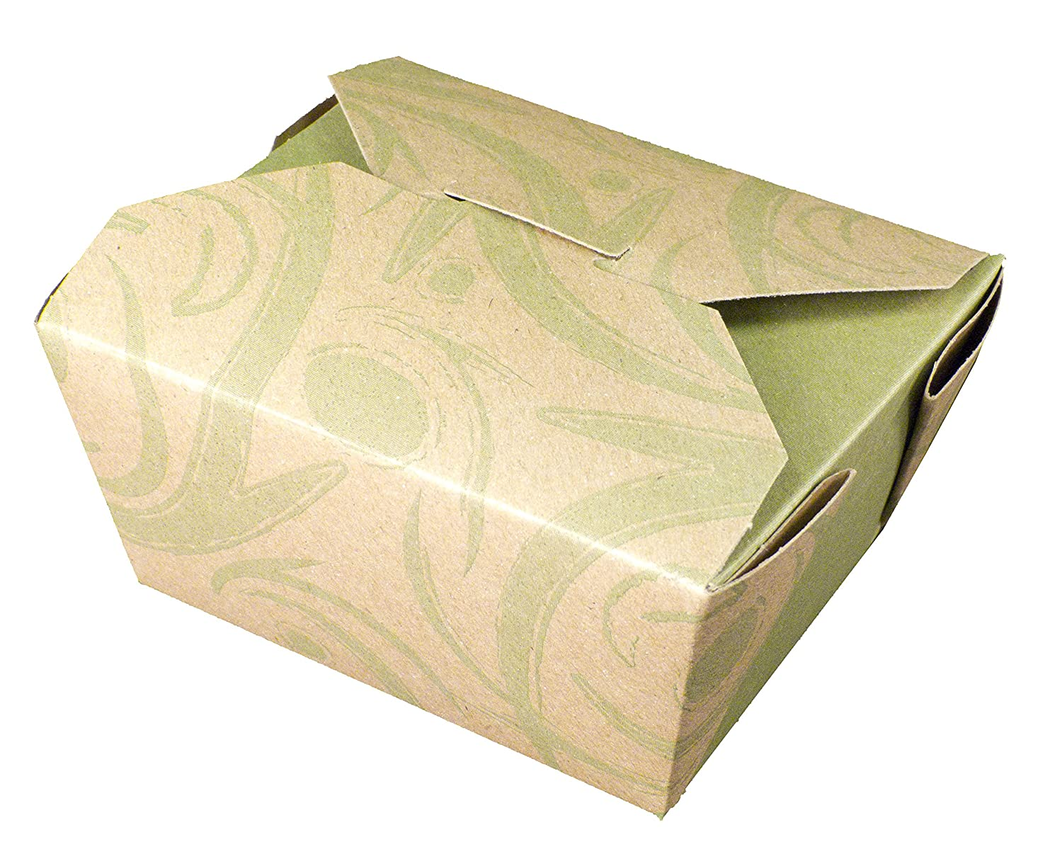 Fold-Pak Bio-Plus Earth 01BPSONOMM Sonoma Print Paper Carry-Out/to-Go Container, 4-3/8