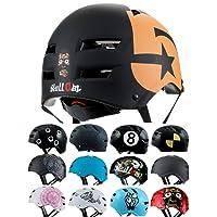 Skullcap® Casco BMX - Casco Skate - Casco Bici, Casco Bici Niños, Negro