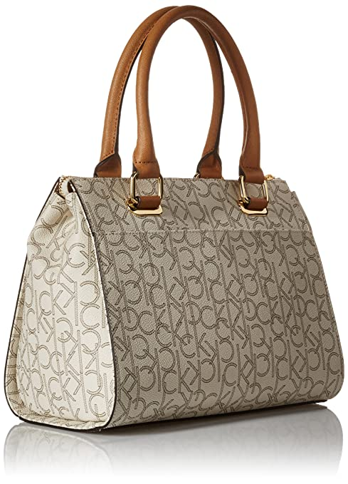 Calvin Klein Top Zip Hudson Monogram Satchel: Handbags: Amazon.com