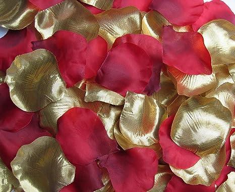 Amazonde 1000 Rosenblätter Mix Gold Rot Bordeaux Türkische