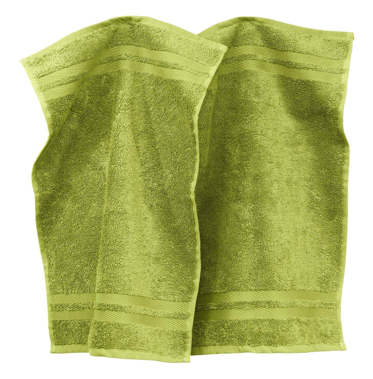 Erwin Müller 2-pk guest towels, Tübingen terracotta size 30x30 cm